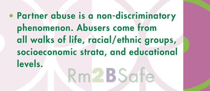Partner abuse is non-discriminatory.
